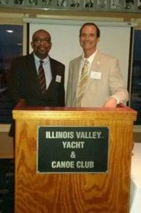 Dr J Jeffries incoming president and Dr AJ Cummings Immediate Past President